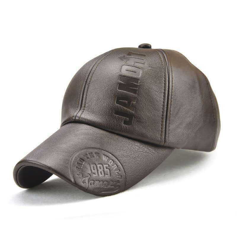 Ordinary New Baseball Hat Fashionable Casual Hat Summer Hat JAMONT Brand Adjustable Bone PU Men Men Winter Baseball Cap 3 Colors