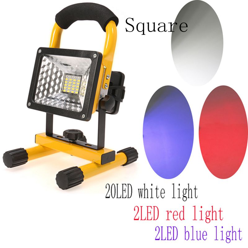 IP65 24 LED Floodlight Portable Rechargeable Work