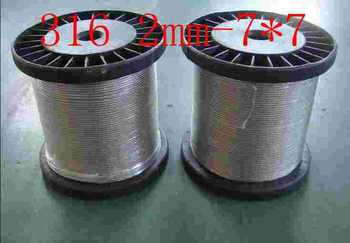 316 material,2mm-7*7,stainless steel wire rope steel wire rope steel cord wire line Tow rope clothesline