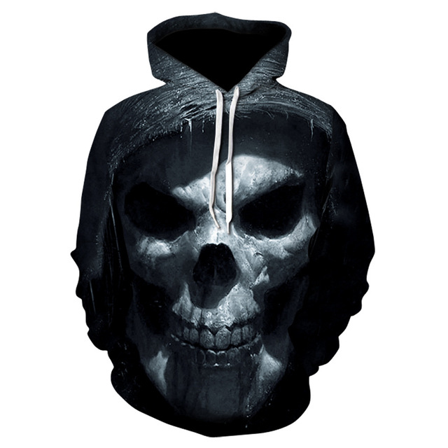 Ice Fire Skull 3d Print mens Hoodies Men's Sweatshirt Autumn Winter Men Women Long sleeve Marvel Hoodie Sweatshirts for hombre 3