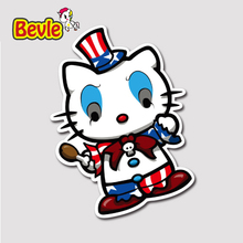 Bevle 1370 Hallo Kitty Clown 3 Mt Aufkleber Wasserdicht Laptop Gepäck Telefon Skateboard Auto Graffiti Cartoon Flut Aufkleber
