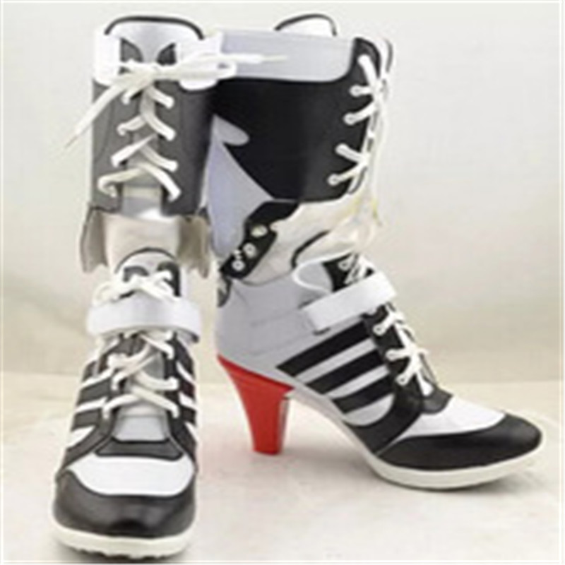 Harley quinn costume cosplay commando suicide commando suicide accessori donne nere par harley scarpe harley quinn stivali boot