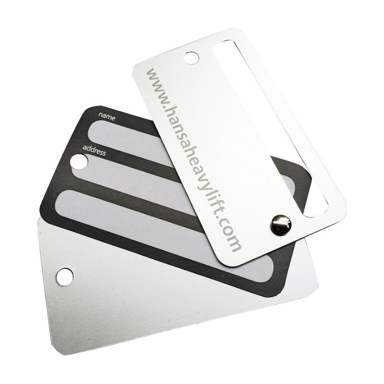 Custom Aluminum Metal High End Travel Luggage Tag