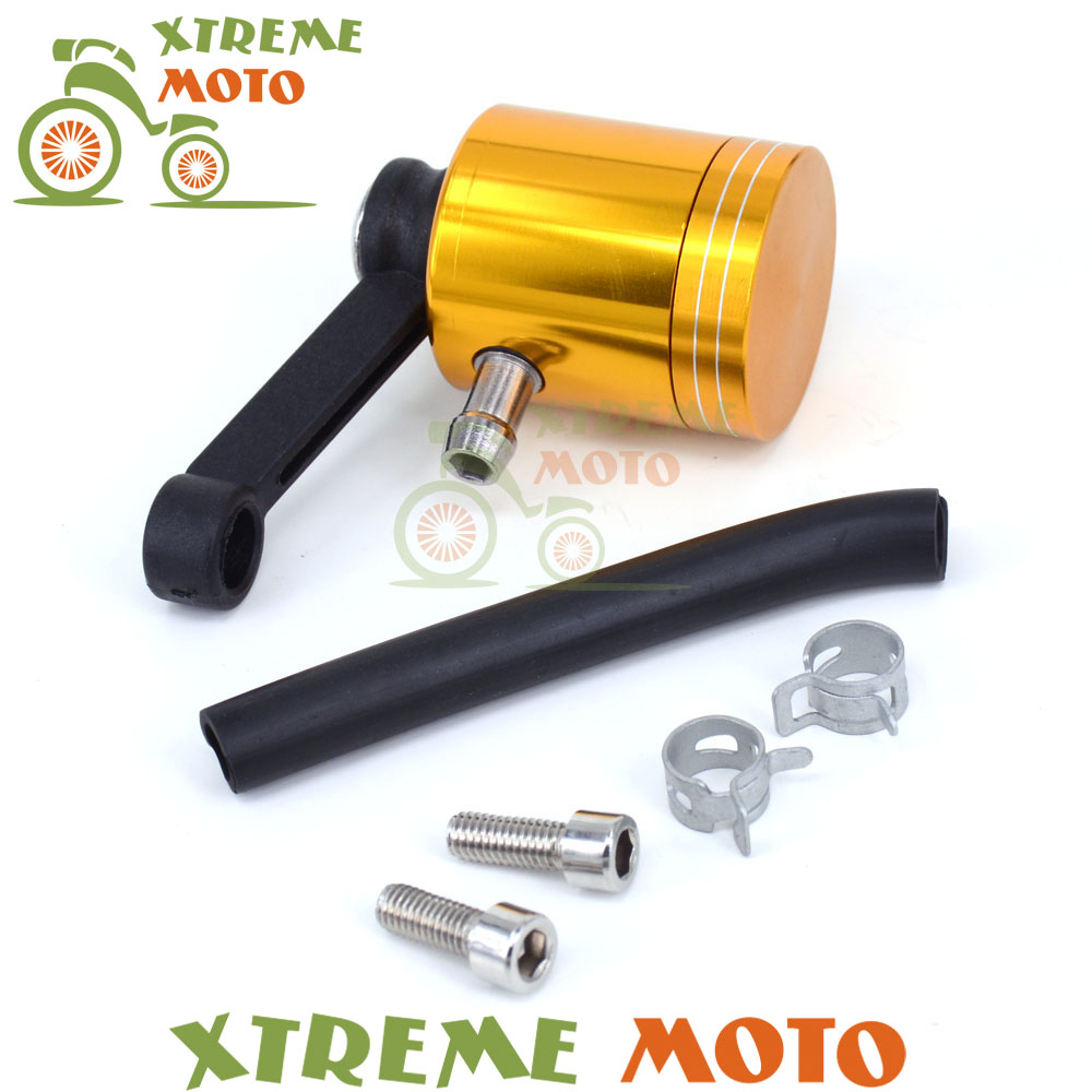 Motorcycle Oil Cylinder Brake Reservoir Front Clutch Tank Fluid Cup Gold