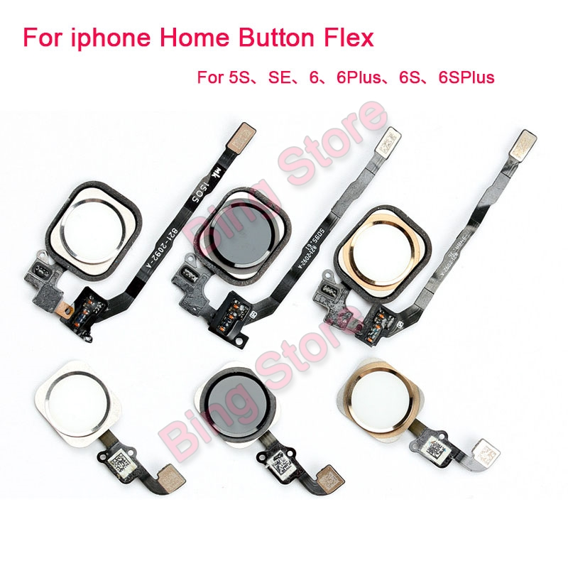 Home Button Flex Cable Assembly For iPhone SE 5S 6 Plus Color Screen On Contral Flex Cable phone Replacement Repair