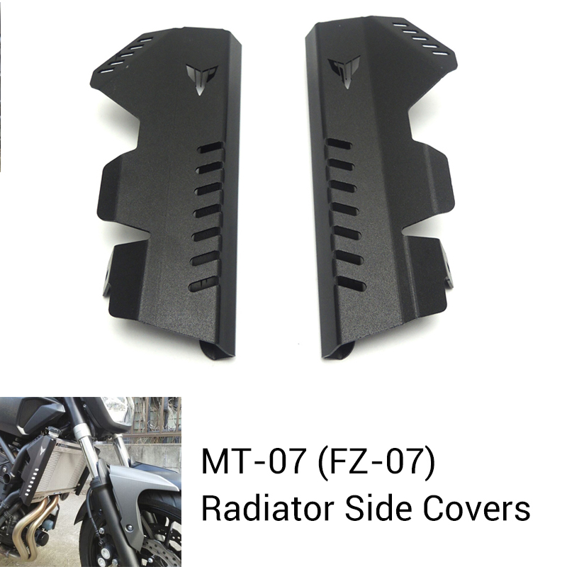 For Yamaha MT-07 MT07 Radiator Grille Guard Side Cover Protector For Yamaha MT07 FZ07 FZ-07 2013 2014 2015 2016 New for yamaha mt07 mt 07 2014 2015 engine radiator bezel grille protector grill guard cover protection black motorcycle accessories
