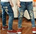 Весна и осень Случайные детские мальчиков джинсы джинсовая длинные брюки Мальчиков Дикие Детские Джинсы Дети Брюки большой размер джинсы