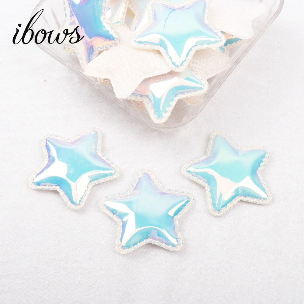 IBOWS зеркало Синтетическая кожа блеск звезда патч Embelishment 10 шт., материалы для ручных поделок для волос лук, украшения интимные аксессуары
