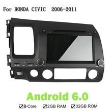 8 Inches 2GB RAM 32G ROM Octa 8 Core Android 6.0 For Honda CIVIC 2006-2011 Car DVD Player GPS Navi Radio WIFI 3G 4G SIM BT