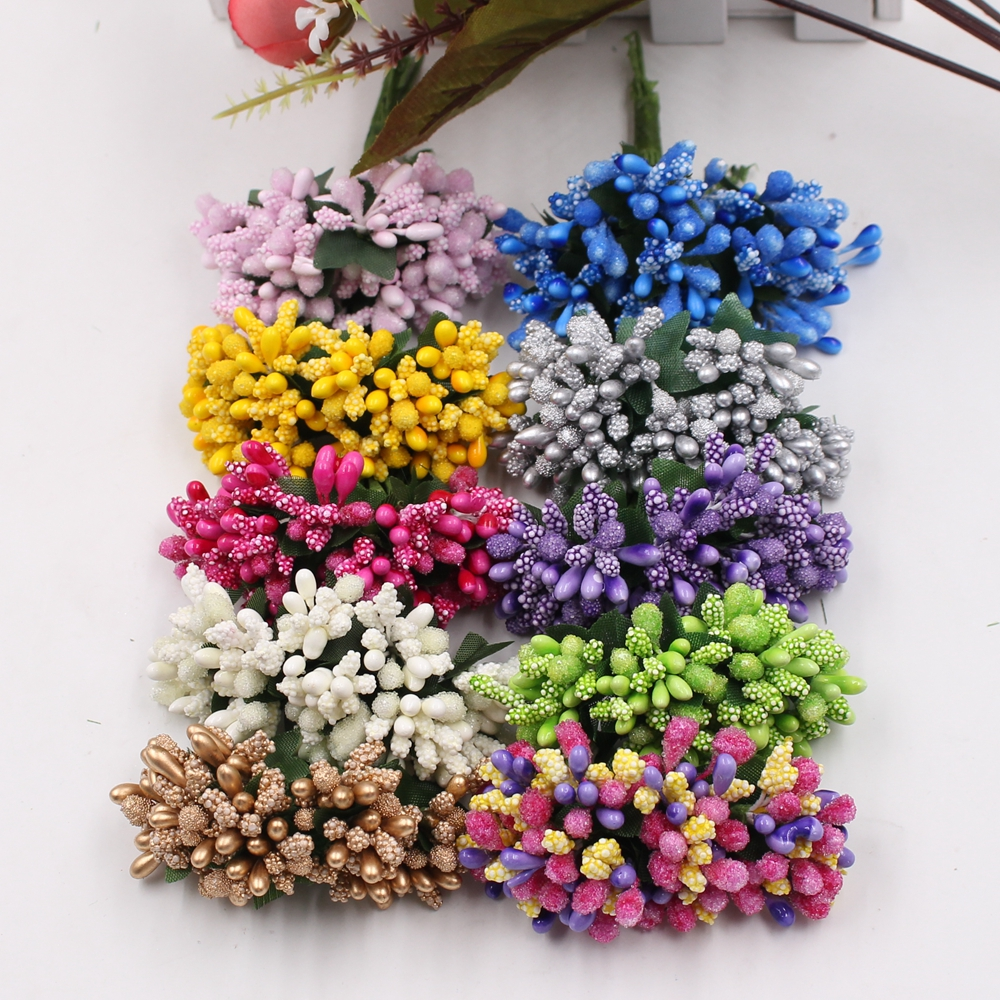 Buy 12pcs pearl berry artificial stamen for Artificial flower for decoration