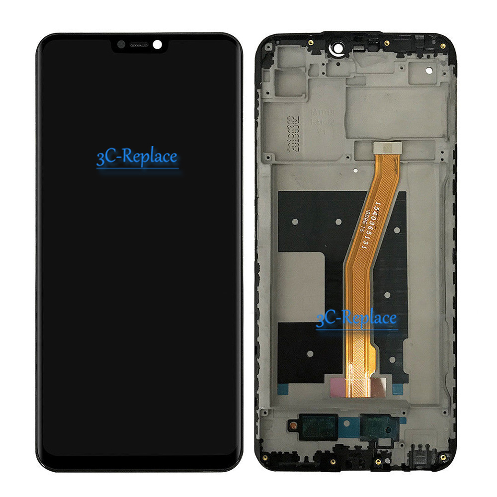 Image 2 - Black/White 6.3 inch High Quality For BBK Vivo V9 Full Lcd  Display Screen Display With Touch Glass Digitizer Assembly With  FrameMobile Phone LCD Screens