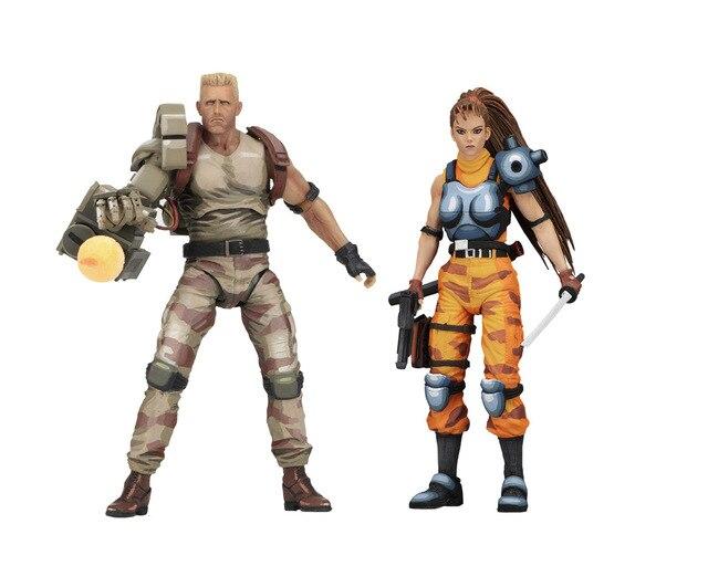 NECA Cool Alien VS prédateur néerlandais et Linn figurine à collectionner modèle jouet