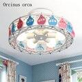 Креативная индивидуальная потолочная лампа для мальчиков и девочек  спальня  комната принцессы  детская комната  лампа с милым мультяшным ш...