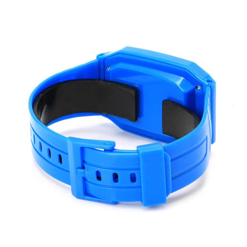 電子電卓子供腕時計子供シリコーン日付時間ストップウォッチ液晶画面表示レロジオデジタル腕時計街