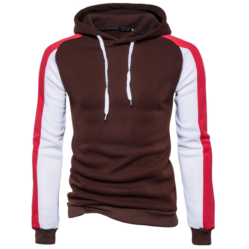 Spring Autumn New Splicing Color Long Sleeve Men's Pullover Hoodie Fashion Hoodies For Men Casual Hoodie Mens Hooded Male Tops