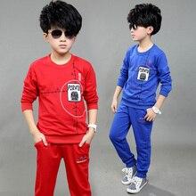 Boy'S Clothing Sets Spring Baby Sets Blouse Cotton Boy Tracksuits Kids Sport Suits Cartoon Sweatshirts+Pants 2Pcs Set