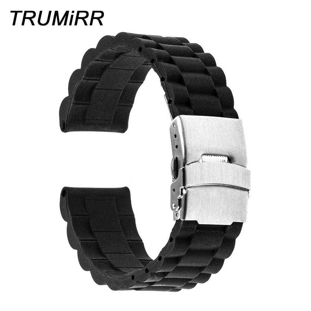 Silicone Rubber Watch Band for Casio BEM 302 307 501 506 517 EF Safety Clasp Wrist Strap 17mm 18mm 19mm 20mm 21mm 22mm 23mm 24mm silicone rubber watch band 18mm 20mm 22mm for casio bem 302 307 501 506 517 ef mtp series quick release strap loop belt bracelet