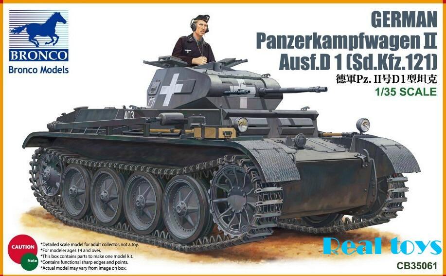 Bronco model CB35061 1/35 Panzerkampfwagen II Ausf D 1(Sd Kfz 121) plastic model kit plastic model kit bronco model cb35020 1 35 german land wasser schlepper lws limited edition plastic model kit