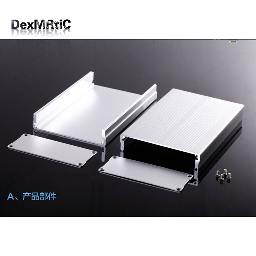 Aluminum enclosure power shell extrusion box 97(3.81)X40(1.57)X100(3.93)mm DIY NEW separate type diy hifi amplifier enclosure extrusion aluminum enclosure housing shell box 180 88 250 mm w h l
