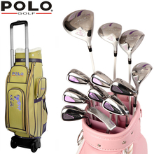 Brand POLO. Womens Female Ladies Girls Golf Clubs Complete Golf Sets Carbon Graphite Shaft Women Golf Clubs Full Set with Bag