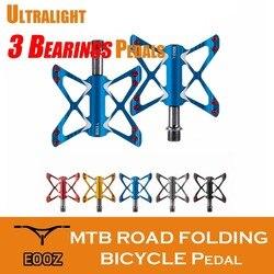 Ultra lekki rower górski pedały do rowerów szosowych 3 łożyska platformy ze stopu aluminium pedały rowerowe Pedały rowerowe    -