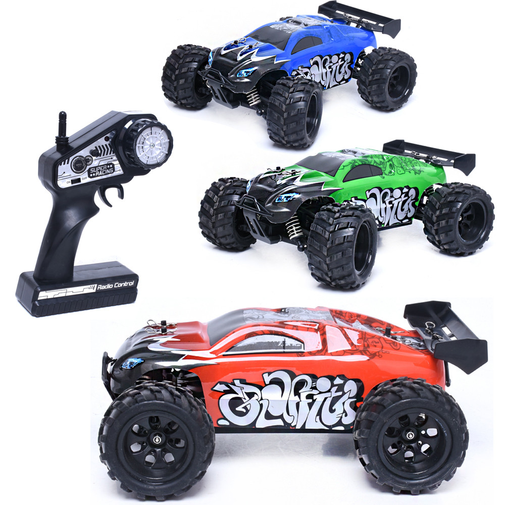 G18-1 1:18 2.4G Four-Wheel Drive High Speed Off Road Remote Control Car 2.4G Remote control mode Green,Red,Blue Car