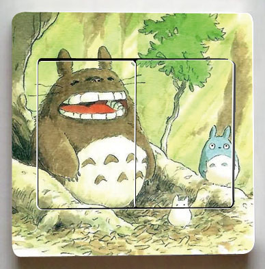 Totoro Light Switch Stickers