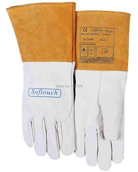 TIG MIG Leather Work Gloves Grain Goat Leather Welding Safety Glove deerskin leather work glove welder safety gloves deer leather tig mig welding gloves