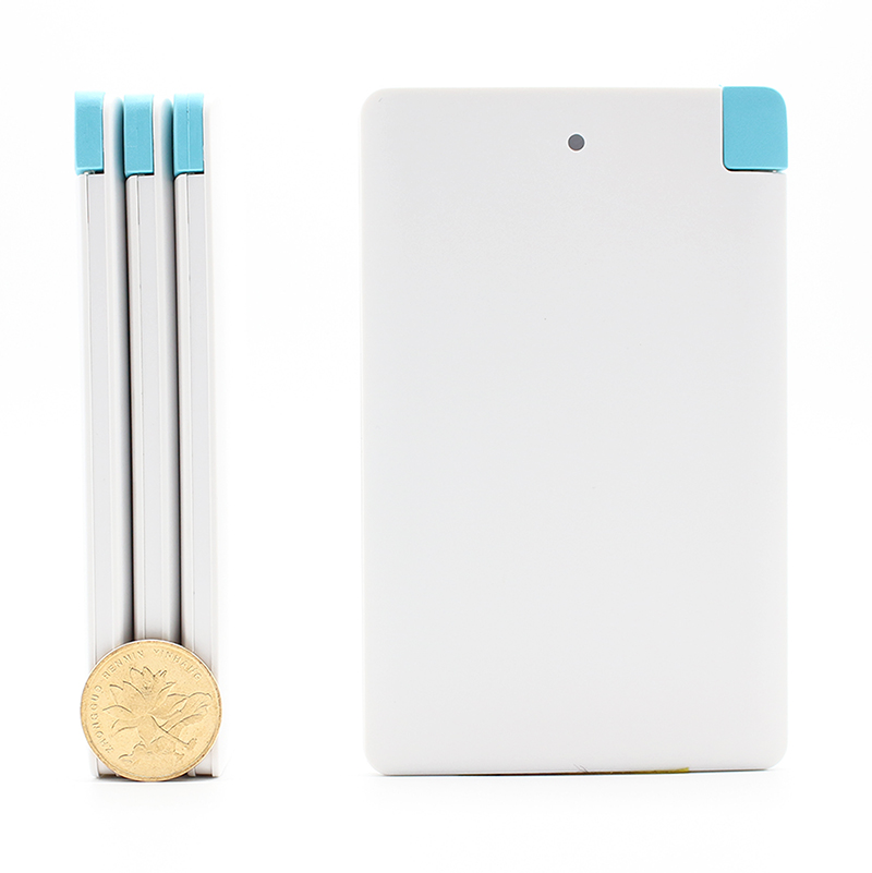 Ultra slim card Portable Charger Backup External Battery Mobile USB Emergency Power Bank for xiaomi mi5