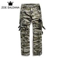 Zoe Saldana 2017 New Mens Jogger Autumn Pencil Harem Pants Men Camouflage Military Pants Loose Comfortable