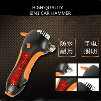 New Multi safety tool hammer belt cutter alarm light for auto emergency, safety hammer