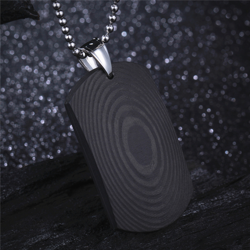 Carbon Fiber Diamontrigue Jewelry: Solid Black Carbon Fiber Pendant For Men Male Punk Jewelry