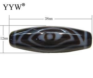 Image 1 - 3PCs/Lot 2017 fashion jewelry Natural Tibetan Dzi Beads Oval, phoenix eye & two tone, 38x12x2.50mm, Hole:Approx 2mm, Sold By Lot