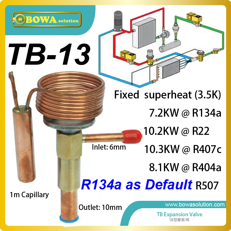 TB-13 expansion valve maintains constant superheat in the evaporator replace emerson alco thermostatic expansion valve 3 5kw electronic expansion valve eev suitable for kinds of small capacity equipment replace danfoss electronic expansion valve