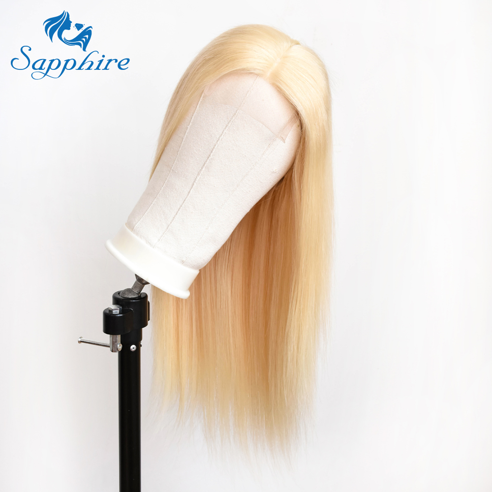 Sapphire 613 Lace Closure Human Hair Wigs Brazilian Remy Hair 4*4 Lace Closure Wig With Pre Plucked Bleached Knots Free Shipping