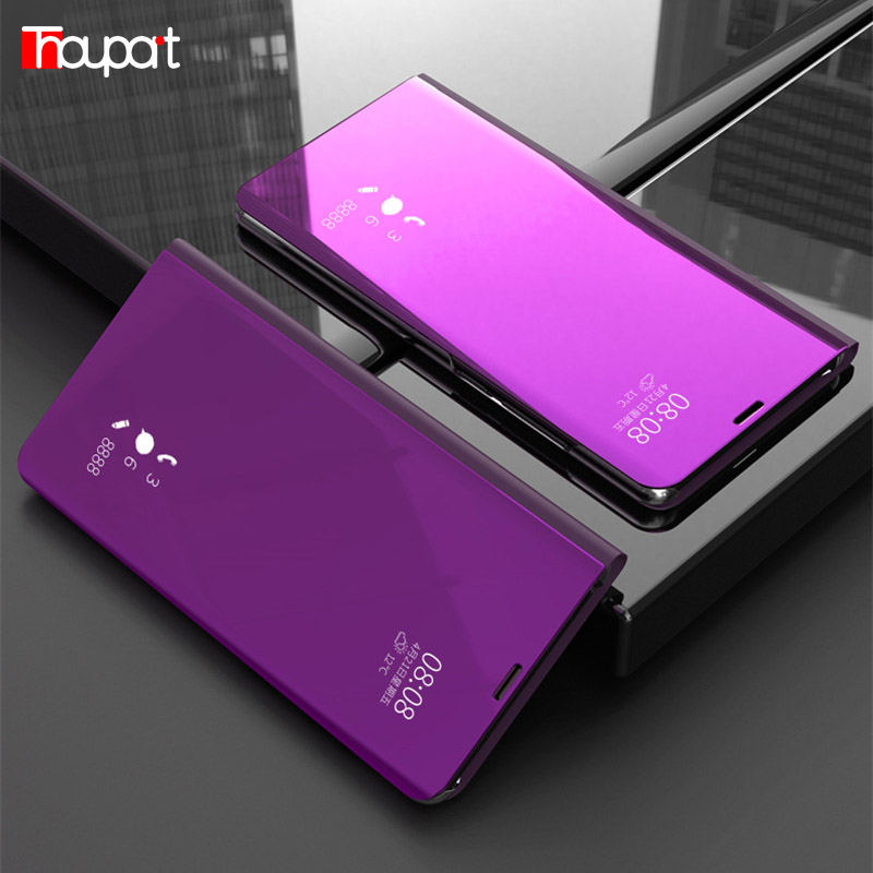 <font><b>Mirror</b></font> <font><b>Case</b></font> For <font><b>Huawei</b></font> <font><b>P</b></font> <font><b>Smart</b></font> (<font><b>2019</b></font>) Flip Cover <font><b>Cases</b></font> For <font><b>Huawei</b></font> <font><b>P</b></font> <font><b>Smart</b></font>+ / <font><b>P</b></font> <font><b>Smart</b></font> Z <font><b>Case</b></font> Leather +Plastic Book Full Protector image