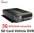 Free shipping 3G Mobile DVR, H.264 4CH Real time Surveillance,GPS Track ,I/O,G-sensor,Vehicle DVR,support iPhone ,Android Phone