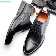 Classic formal shoes men Handmade Wedding Party Derby Shoe Business Male oxford luxury Genuine Leather Men Dress Shoes