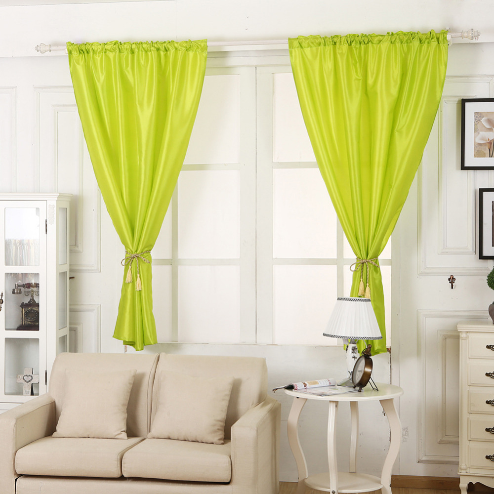 New High Quality Multi Color Solid Window Curtains for Living Room ...