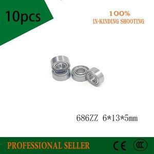 Free Shipping 686 686ZZ 6X13X5 686Z Miniatura Deep Groove Ball Bearing 686-2Z(China)