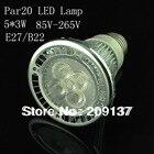 Par20 Led Lamp E27 Dimmable 5X3W 15W Spotlight Led Light Led Bulbs 85V-265V Energy Saving