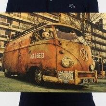 Roadside Volkswagen papel Kraft clásico película cartel mapa escuela hogar Decoración de pared Oficina arte Retro carteles y impresiones