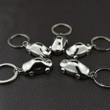 Metal Car Keychain Toys Creative Gift Car Ornaments Key Ring Pendant Toys with Action Figure Couple Valentine's Day Present Toys