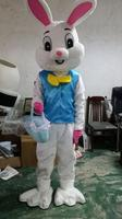 2018 New Easter Bunny Mascot Costume EPE Fancy Dress Cosplay Rabbit Outfit Adult Size/In stock