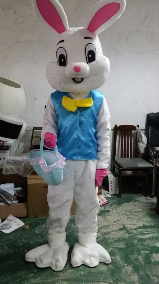 2018 nouveau Costume de mascotte de lapin de pâques EPE déguisement Cosplay tenue de lapin taille adulte/en stock