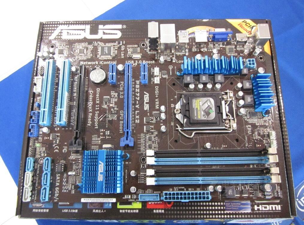 D'origine carte mère P8Z77-V LX2 DDR3 LGA 1155 pour I3 I5 I7 CPU USB3.0 32 GB Z77 Bureau carte mère