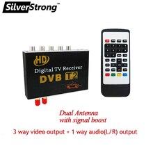 Бесплатная доставка Цифровой ТВ-Приемник Автомобиля DVBT2 ТВ Приемник для Автомобиля DVD цифровой ТВ-тюнер Dvb-T2 Mpeg4 Для Таиланд Европа(Hong Kong)