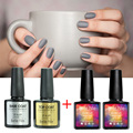 Any 2 Color + Top Base Coat 10ml Gel Nail Color Tale 237 Pure Gel Color Gelpolish Nails UV Colors Glue Lamp Nailpolish