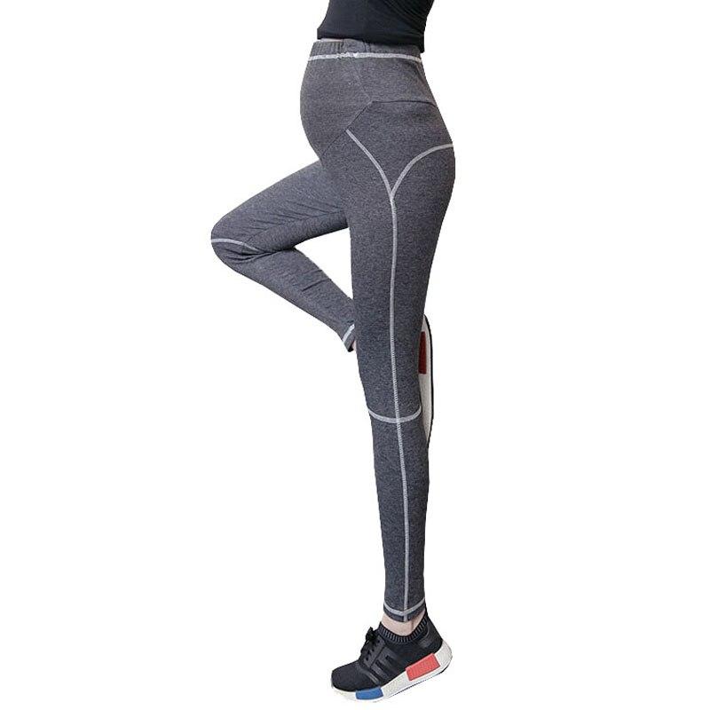 Yoga Maternity Leggings For Pregnant Women Clothes Skinny Slim Sport Pants Knitted Pregnancy Leggings Adjustable Trousers