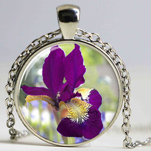 Buy tall purple flowers and get free shipping on aliexpress burgundy iris necklace a tall plant with long leaves and large purple flowers necklace print mightylinksfo